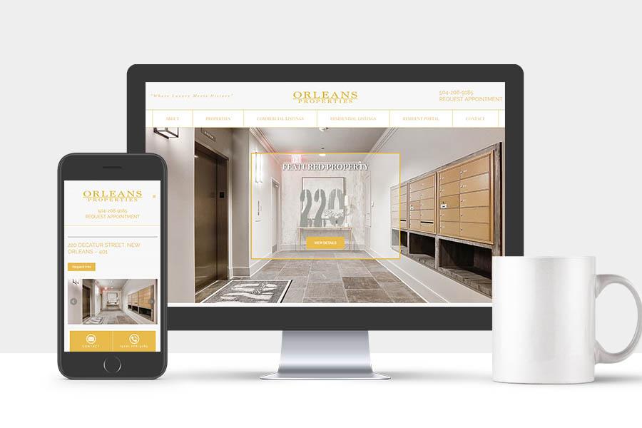 Orleans Properties Real Estate Website
