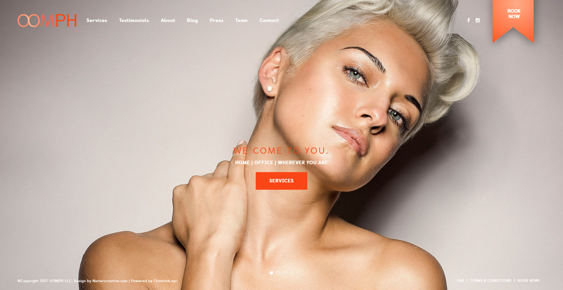 Oomph Close the Loop Group Website Design
