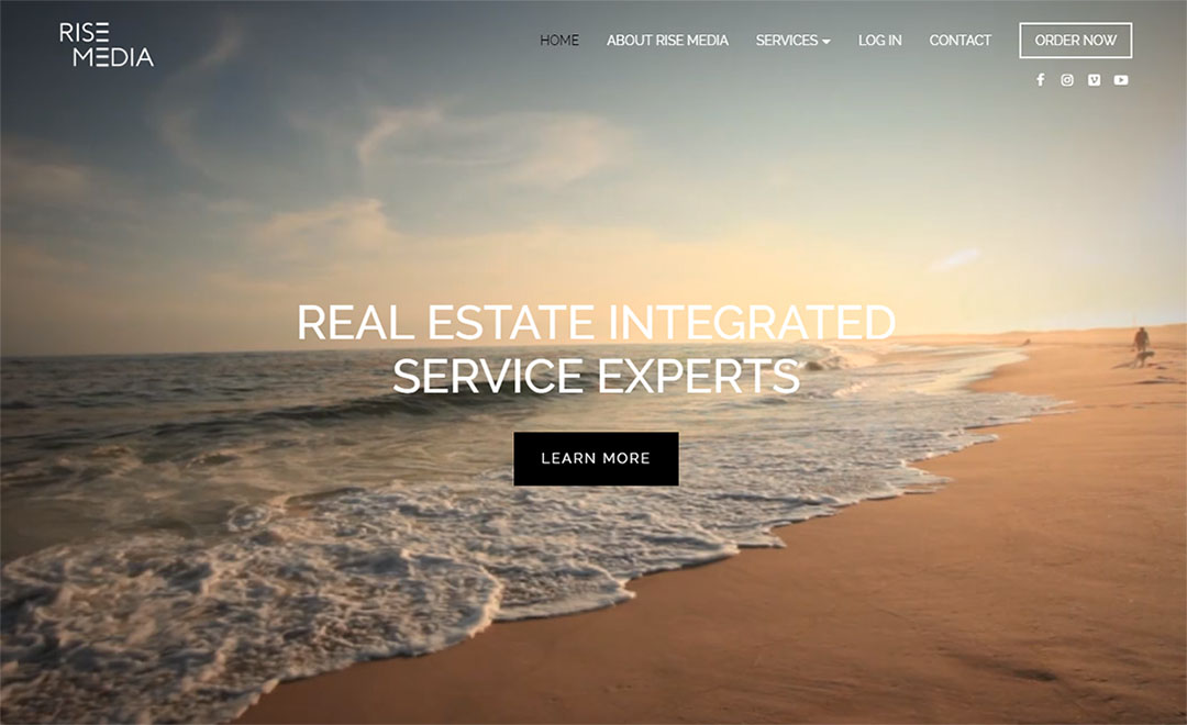 Rise Media Real Estate Marketing Website - Close the Loop Group